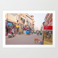 India New Delhi Pahargan… Art Print