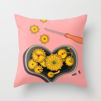 SHIFTING GEARS Throw Pillow