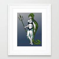 Water Warrior Framed Art Print