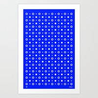 Dots / Blue Art Print
