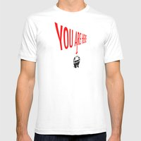 You Are Here Mens Fitted Tee White SMALL