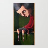 Girl in the Box Canvas Print