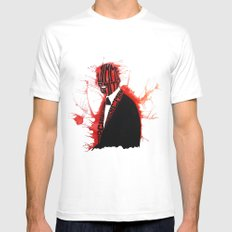 Jimmy S White Mens Fitted Tee SMALL