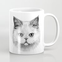 White Cat Portrait G130 Mug