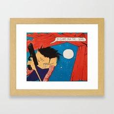 Johnny the Homicidal Maniac in Color Framed Art Print