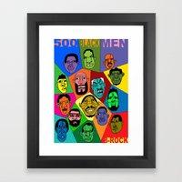 1001 Black Men--#500 Framed Art Print