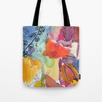Abstract floral watercolour Tote Bag