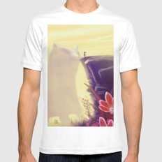Beauty and the Beast SMALL Mens Fitted Tee White