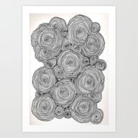Bear Squiggles Art Print