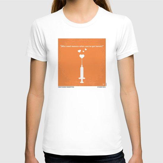 No152 My TRAINSPOTTING minimal movie poster T-shirt