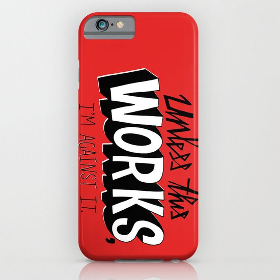 Mad Men: Unless this work, I'm against it. iPhone & iPod Case
