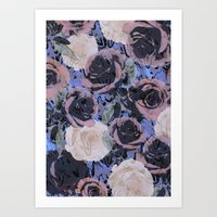 feathered roses  Art Print