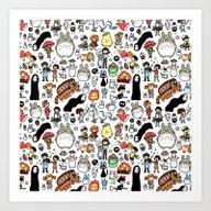 Kawaii Ghibli Doodle Art Print