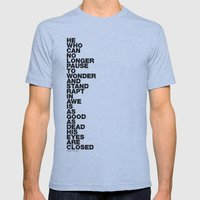 Stand Rapt In Awe quote Mens Fitted Tee Athletic Blue SMALL
