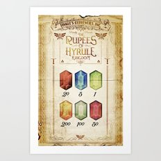 Legend of Zelda - Tingle's The Rupees of Hyrule Kingdom Art Print
