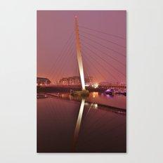 The Sail Bridge, Swansea. Canvas Print