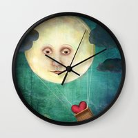 Love you to the Moon Wall Clock