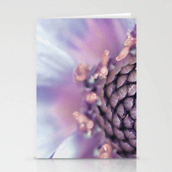 Violett Flower Stationery Card
