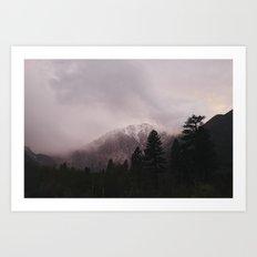 Misty Sunset on Convict Mountain Art Print