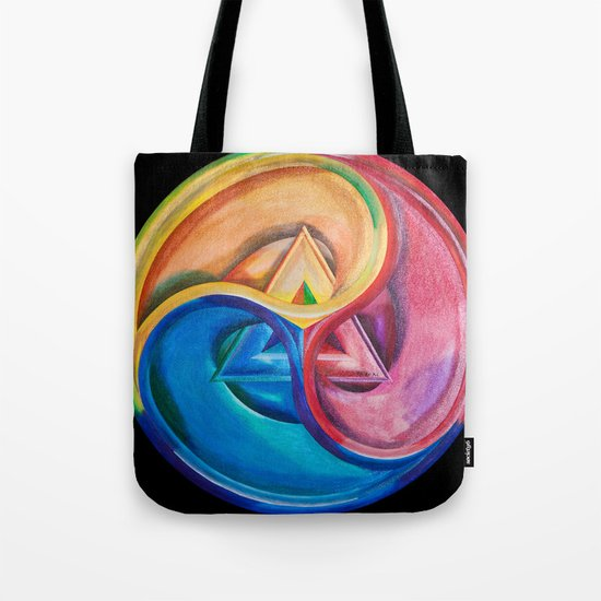 Primary triangle Tote Bag