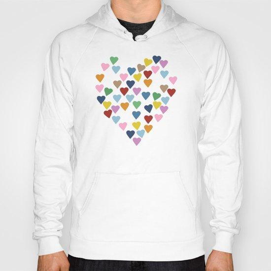 Hearts Heart Multi Grey Hoody