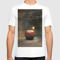 Apple Bomb Mens Fitted Tee White SMALL