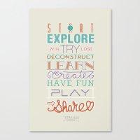 Explore, Create, Share Canvas Print