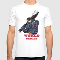 THE World Series Mens Fitted Tee White SMALL
