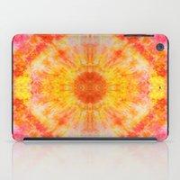 Orange Sunburst iPad Case