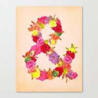 Flower Ampersand Canvas Print