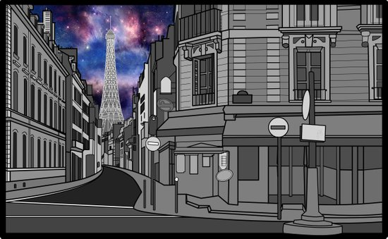 Paris: The Center of the Universe Art Print