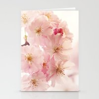 cherry blossoms- In memory Stationery Cards