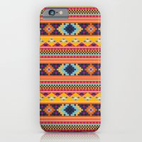 Navajo blanket pattern- orange iPhone 6 Slim Case