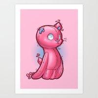Toycat Art Print