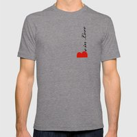 BE IN LOVE Mens Fitted Tee Tri-Grey SMALL