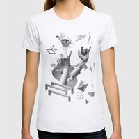 Hands Womens Fitted Tee Ash Grey SMALL