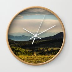 The Mountains Are Calling - Colorado Wall Clock
