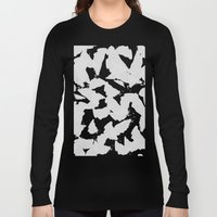 Black Bird Wings on Grey Long Sleeve T-shirt
