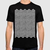 Black Lodge Zig Zag (Dis… Mens Fitted Tee Black SMALL