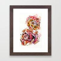 Rose Blooms Framed Art Print