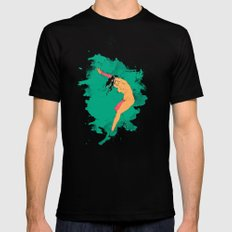 andromeda Black SMALL Mens Fitted Tee