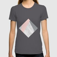 Scandi Collage Womens Fitted Tee Asphalt SMALL