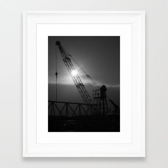 crane spotting... Framed Art Print