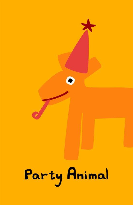 Party Animal-Orange Canvas Print