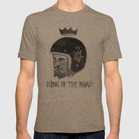 King of the Road Mens Fitted Tee Tri-Coffee SMALL