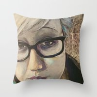 Smart Girl At The Party Throw Pillow