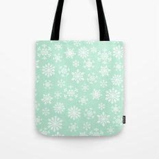 minty snow flakes Tote Bag