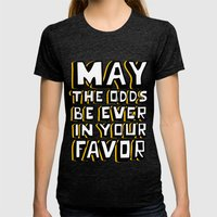 Happy Hunger Games! Womens Fitted Tee Tri-Black SMALL