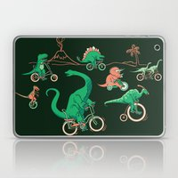 Dinosaurs on Bikes! Laptop & iPad Skin