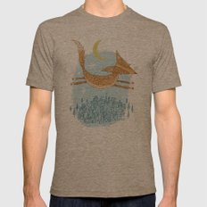 'Flying Fox' Mens Fitted Tee Tri-Coffee SMALL